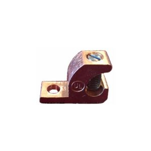 Lay In Copper Bonding Lug, Copper Lay In Lugs, DB, Stainless Steel Screw