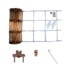2″ WIDE X 100′ LONG COPPER EQUIPOTENTIAL BONDING GRID W/KIT