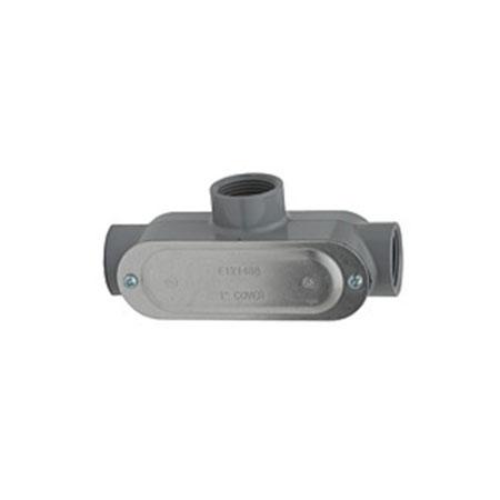 Aluminum Conduit Body, Assembled w/Cover, 3/4″ configuration T
